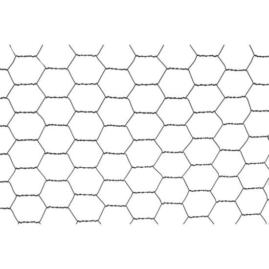 10m x 900mm x 25mm 4TRADE Galvanised Wire Netting