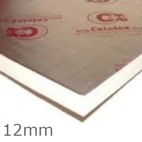Celotex 12mm TB4012 PIR Insulation Board 2.4m x 1.2m
