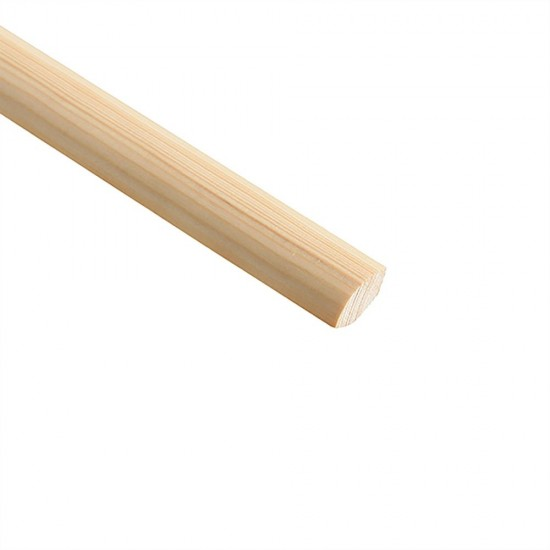 2400mm x 12mm x 12mm Cheshire Mouldings Quadrant Pine