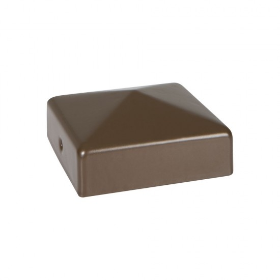 75 x 75mm Durapost Fence Cap with Bracket Sepia Brown Home Delivered