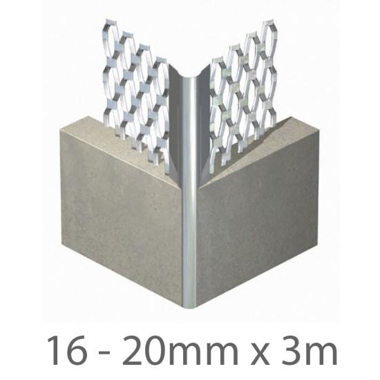 16 - 20mm x 3m Expamet External Angle Bead