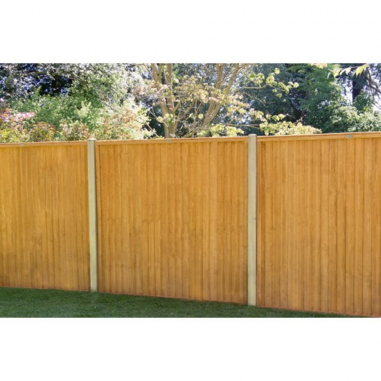 1.83m x 1.83m Forest Garden Closeboard Fence Panel (Pack of 3)