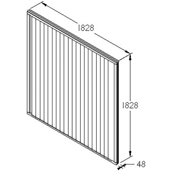 6ft x 6ft (1.83m x 1.83m) Forest Garden Pressure Treated Closeboard Fence Panel (Pack of 5)