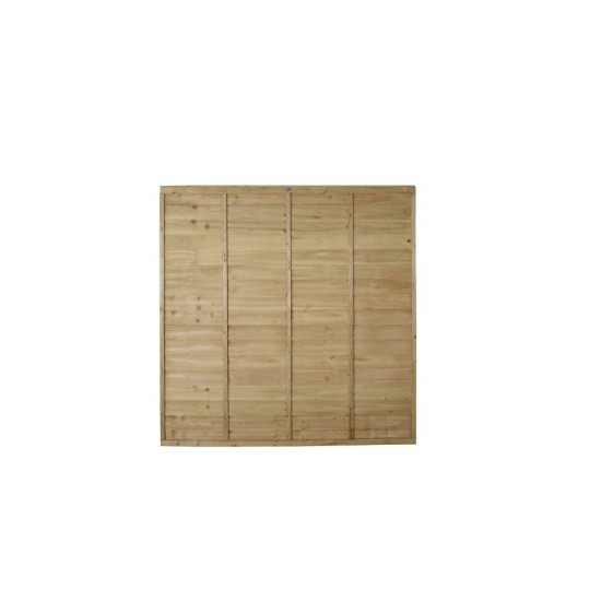 6ft x 6ft (1.83m x 1.83m) Forest Garden Pressure Treated Superlap Fence Panel (Pack of 4)
