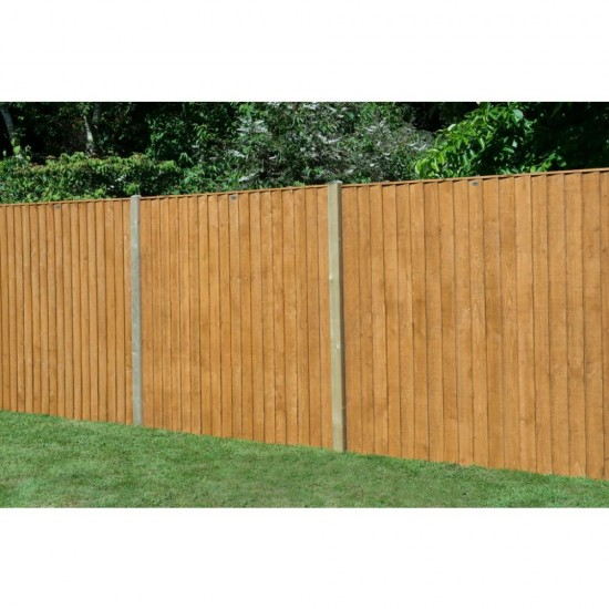 6ft x 5ft (1.83m x 1.54m) Forest Garden Featheredge Fence Panel (Pack of 3)