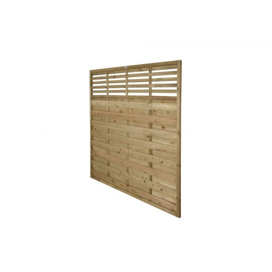1.8m x 1.8m Forest Garden Pressure Treated Decorative Kyoto Fence Panel (Pack of 3)
