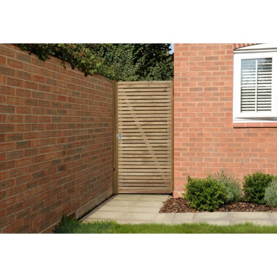 Forest Garden Double Slatted Gate 6ft (1.83m High)