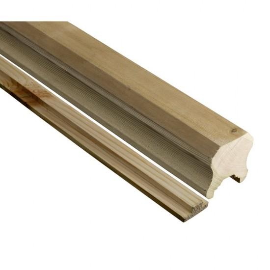 68mm x 68mm x 2400mm Richard Burbidge Large Traditional Decking Handrail