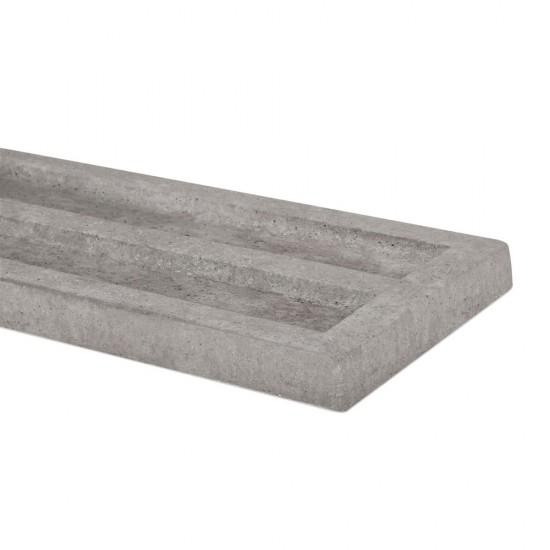 "50mm x 305mm x 1830mm Supreme Concrete Recessed Gravel Board GBR305 - 12"""