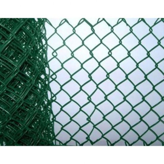 900mm x 50mm x 2.5mm x 10m Tenax Green Plastic Coated Chainlink Fence