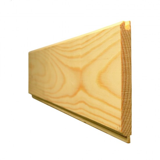 14.5mm x 119mm Redwood Tongue and Grooved V Jointed Matchboard Standard