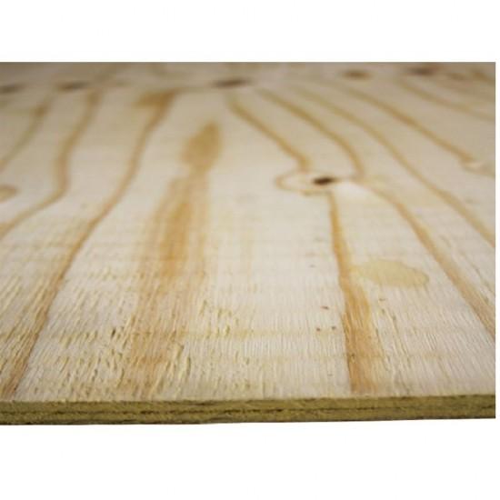 2440mm x 1220mm x 9mm Softwood Shuttering, Sheathing, CDX Plywood