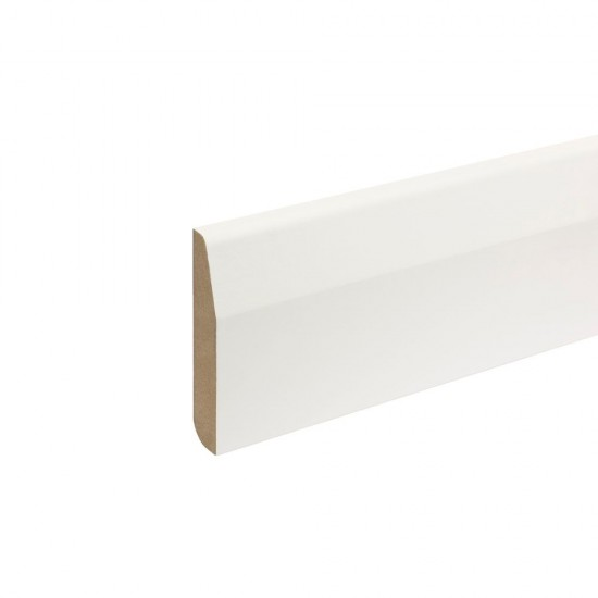 18mm x 94mm x 4.4m MDF Painted Truprofile Pencil/Chamfered Round Skirting