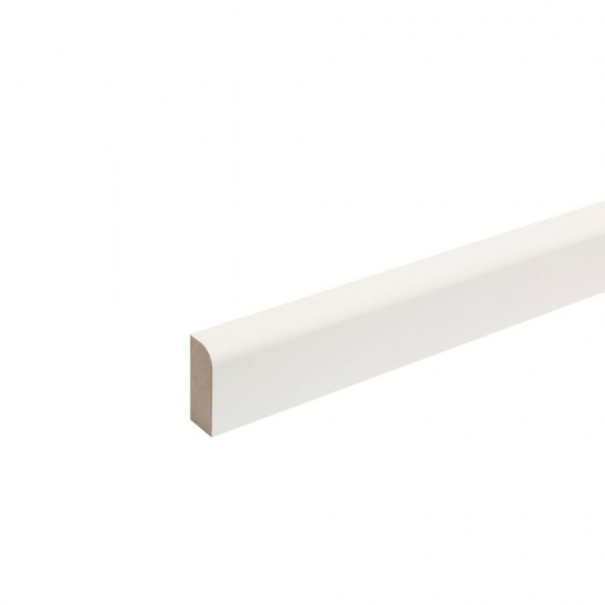 18mm x 69mm x 2.4m WHoward MDF Moulded & Primed Pencil Round Architrave