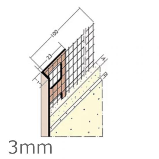 Wemico 3mm PVC Render Stop Bead Mesh Wing (25 pcs)