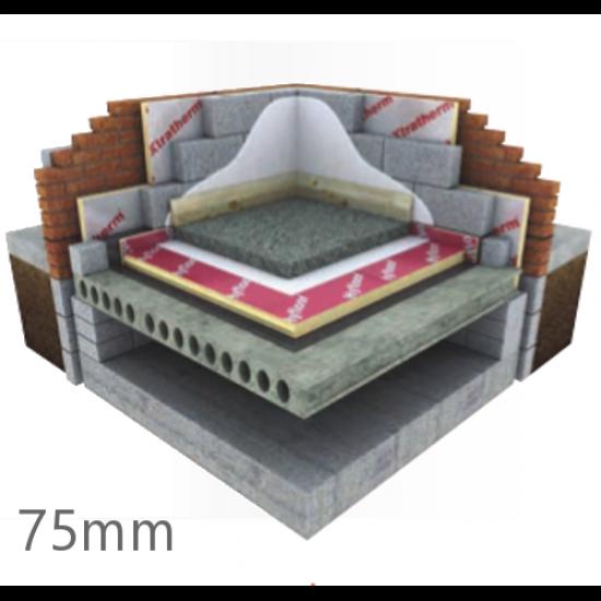 Xtratherm 75mm Thin-R Hyfloor XT/HYF Under Floor PIR Insulation Board (4 pcs)