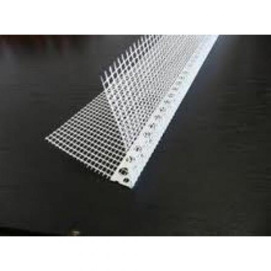 Plastic corner bead used with fibreglass mesh 2.5m
